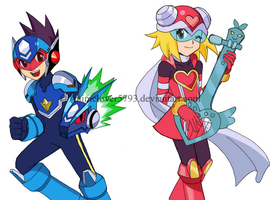 Rockman and Harpnote by DoReMino