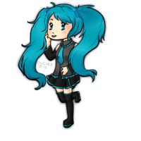 Miku Running by Ouchez