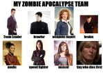 My Doctor Who Zombie Apocalypse Team by phoenixtsukino