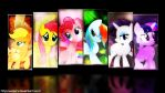 The Mane 6 by WazerX