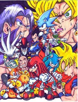 sonic and dbz group by trunks24