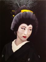 Geisha Study in Oils on Canvas by CarlBurns