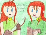 Ask The Dewleaf Twins ( Open) by Ask-LilyandRoy