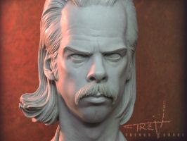Nick Cave GRINDERMAN closeup by TrevorGrove