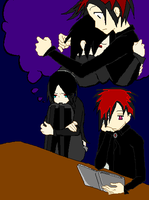 2 of the south park goth kids by sweetviolence1321