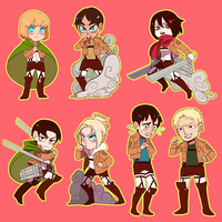 SnK:: Sticker set by Shilloshilloh