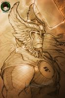 Sketching Thor by FEDsART