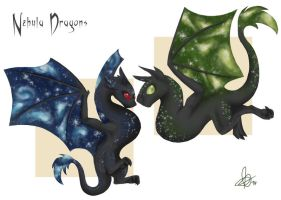 Nebula Dragons by Astral-Dragon