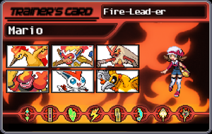 Mario As Fire Type Trainer by newsuperdannyzx