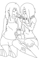'Say ahh, Miki' (OUTLINE) by mushi-mush993