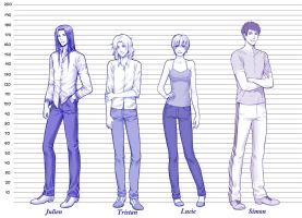 Commission: Height Chart .1. by alexielart