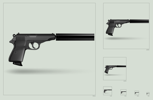 Walther PP silenced black icon by hbielen