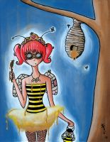 Honeybee Girl by jenkiddo