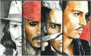 The Many faces of Johnny Depp by mellimac