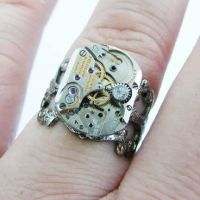 Unisex Steampunk Ring by Create-A-Pendant