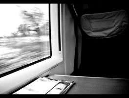 On the train by AnnieCy