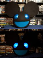Black and Blue Mau5 Commission by AngelCostumes