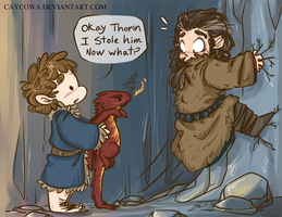 Hobbit - Bilbo the Dragon Burglar by caycowa