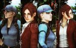 Jill Valentine and Claire Redfield by mk-re55