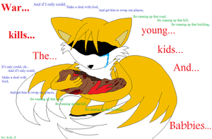 Tails Sadness of the War by RandomFoxFan