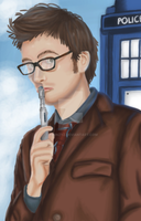 The 10th Doctor by Helonzyz