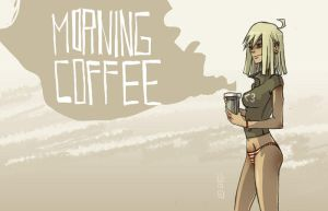 morning coffee by lemon5ky