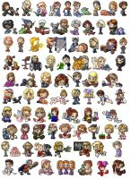 Tons of chibis by jessijoke