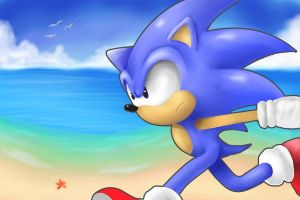 Sonic The Hedgehog (Request) by Reillyington86