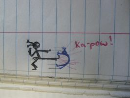 Scribbles 6: Ka Pow by mightwork15
