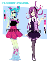 Auction Monsters Girls CLOSED by HybridCraft