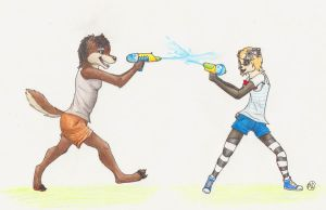 Charlie and Wulvie-leigh :ART TRADE: by Wulvie-leigh