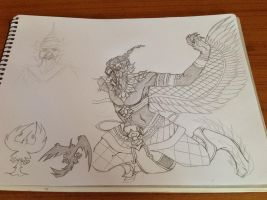 Garuda (sketch) by Multifreak99