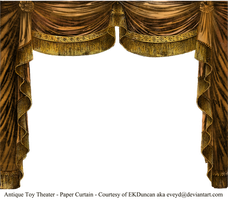 Paper Theater Curtain Topaz by EveyD