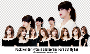 Pack Render Hyomin and Boram T-ara Cut By Les by yenlonloilop7c