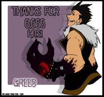 thanks for 6666 Hits Linake :D by Chibi-Goat