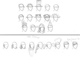 Hats with Hairstyle Mixes by Kiwii3364