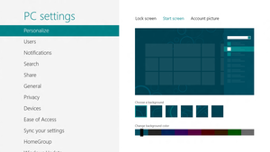Windows 8 Consumer Preview - PC Settings by JaisonYR