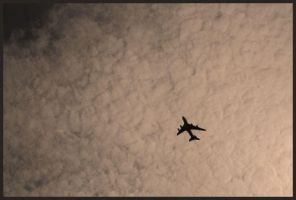 Plane and clouds. by artinside