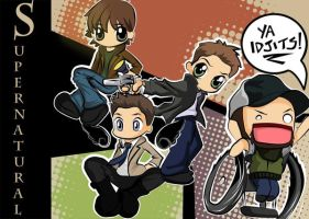 Supernatural Chibis by TheSpyWhoLuvedMe