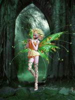 Waterfall Faerie by VisualPoetress