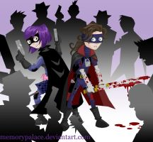 Hit Girl Super Team Up by memorypalace