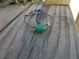 Tri toned copper and silver wire bracelet by WyckedDreamsDesigns