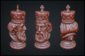 king ZBrush high poly by tsabszy