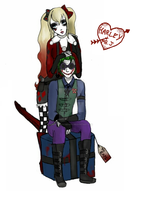 Harley + Mr. J by QueenJellybeany
