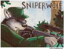 COMMISSION - Sniperwolf by cheekitty