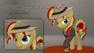 [SFM][DL] Bonemergeable Pony Detective Hat by AutoAudi