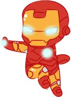 Chibi Iron Man by Niji-Panda