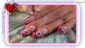 Spring 2012 manicure with dots by Danijella