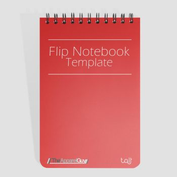 Flip Notebook Template by TheApparelGuy