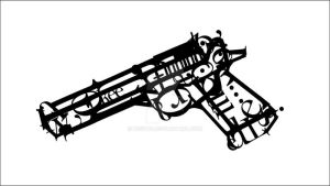Typography Gun by Keeyou